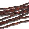 Бусины из яшмы красной брусок 4,5*13мм, 40см, 29 бусины  Артикул: Б41190