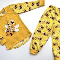 """Пижама для девочки """"Пчёлка"""" , размеры 98-122  (супрем)"""
