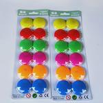 Цветные круглые магниты для магнитных досок, 12 штук в блистере