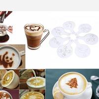 Набор трафаретов кулинарных для украшения выпечки и кофе, 16 шт 9046232