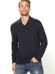Трикотажный пуловер с воротником смокинг
