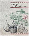 Полотенце рогожка СОМЕЛЬЕ - белое вино р-р 50х60