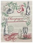 Полотенце рогожка СОМЕЛЬЕ - шампанское р-р 50х60