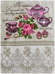 Полотенце вафельное ЧАЕПИТИЕ - чайники р-р 50х60