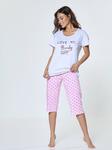 Пижама с брюками Корсар сердца