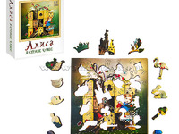 """Фигурный деревянный пазл """"Алиса"""""""