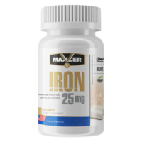 Железо Maxler Iron 25 мг. Bisglycinate Chelate 90 вег.капс.