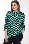 Джемпер Lady Style Classic 2333/1 зеленый+темно-синий