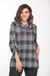 Джемпер Lady Style Classic 2333 темно-синий+серый