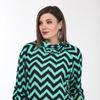 Джемпер Lady Style Classic 2333/1 зеленый-темно-синий