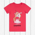 Детская трикотажная футболка для девочки с принтом