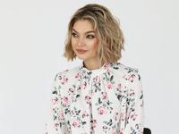 Блузка со сборкой по переду