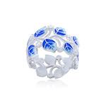 Кольцо из серебра «Мелисса», синее с фианитами