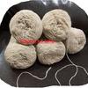 Пряжа шерстяная овечья,носочная, в 1 нить метраж примерно 400/100, БЕЛАЯ, нестиранная, ручного прядения цена 80 руб за 100 гр