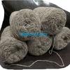 Пряжа шерстяная овечья, носочная, в 1 нить метраж примерно 400/100, СЕРАЯ, нестиранная, ручного прядения цена 80 руб за 100 гр
