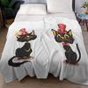 Комплект бархатных пледов Кошки