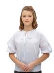 Блузка арт.10609 бел    рост 134-170