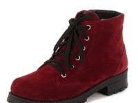 Ботинки женские замшевые на литой подошве