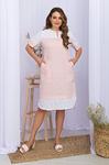 Платье Сатива-Б к/р пудра p70292 от Glem
