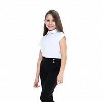 Чёрные школьные брюки для девочки, модель 0411/1