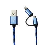 Кабель универсальный 2 в 1 (Lightning/micro USB)