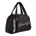 Спортивная сумка NUK21-SP-05 черный; надпись