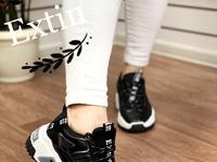 Женские кроссовки 5007-1 черные