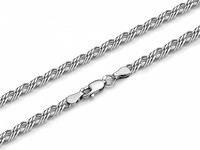 Цепь Ромб тройной с алмазной огранкой родированный  Артикул:ТРГр-50