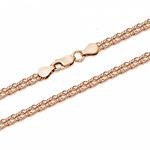 Цепь Ромб тройной с алмазной огранкой золочёный Артикул:ТРГз-40