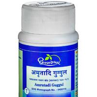 Амрутади Гуггул, очищение организма от токсинов и помощь суставам, 60 таб, производитель Дхутапапешвар; Amrutadi Guggul, 60 tabs, Dhootapapeshwar