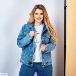 Куртка джинсовая с принтом на спине EZ-5571