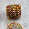 Стразы в бобине матовые 4 мм*10 ярд (SF-1648) разноцветные №3   Артикул: 202-186