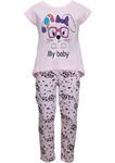 Пижама для девочки с коротким рукавом ПК-41
