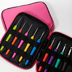 Набор крючков с каучуковой ручкой в сумке 2.0-6.0мм 9шт