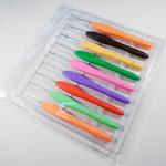Набор крючков вязальных 9шт (№2.0-6мм) с резиновой ручкой