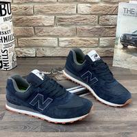 Мужские кроссовки A107-4 темно-синие