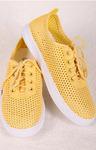 Слипоны желтые на шнурках ТП-113 RI7-7.С1 Слипоны