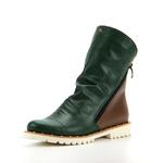 Ботинки женские кожаные ED'ART 233.sigma-pyr'w.green+brown
