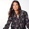 Блузка с принтом кафтана