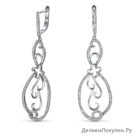 Серебряные серьги Артикул 22504se3318(71)-160