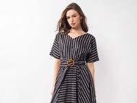 Платье женское синий-бежевый Артикул: D22.481