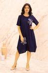 Платье (вискоза) с апликацией №20-346-3