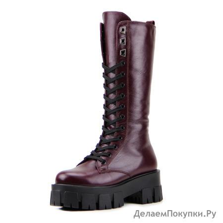 Ботинки женские кожаные ED'ART 339.90200'bl.bordo