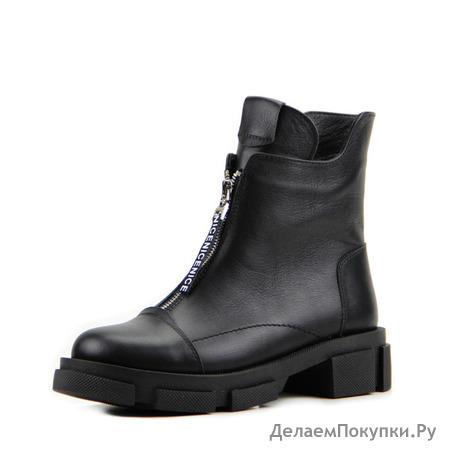 Ботинки женские кожаные ED'ART 326.21074'bl. black