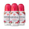 Crystal Mineral Deodorant Roll-On Body Deodorant With 24-Hour Odor Protection, Pomegranate, Non-Sticky Roll-On, Aluminium Chloride, 2.25 FL OZ - 3 pack