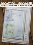 Папка - вкладыш для 1 комплекта документов А4