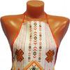 Фартук рогожка с карманом Орнамент