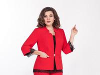 Блуза, брюки, жакет LaKona  артикул 1338/2 красный