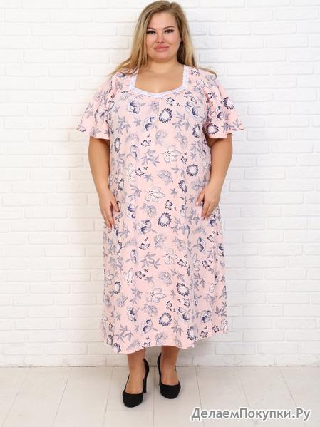 """Сорочка """"Фламинго"""" 7 розовый"""