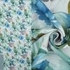 Портьера рогожка Цветочная поляна Артикул: 21/8033-13 бирюза+синий  Ширина рулона: 280